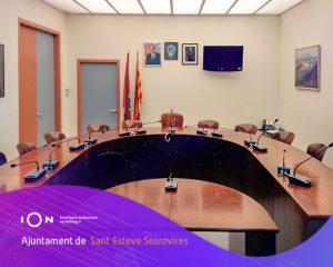 Sant Esteve Sesrovires incorpora la tecnología iOn con la plataforma de Audio-Vídeo Acta en sus plenos
